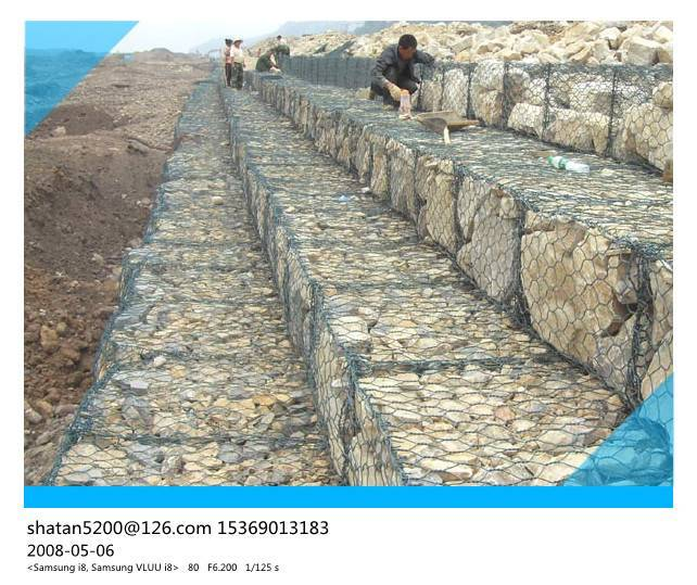 ASTM A975 standard pvc coated Typical gabion wall detail with CE certificate for river bank