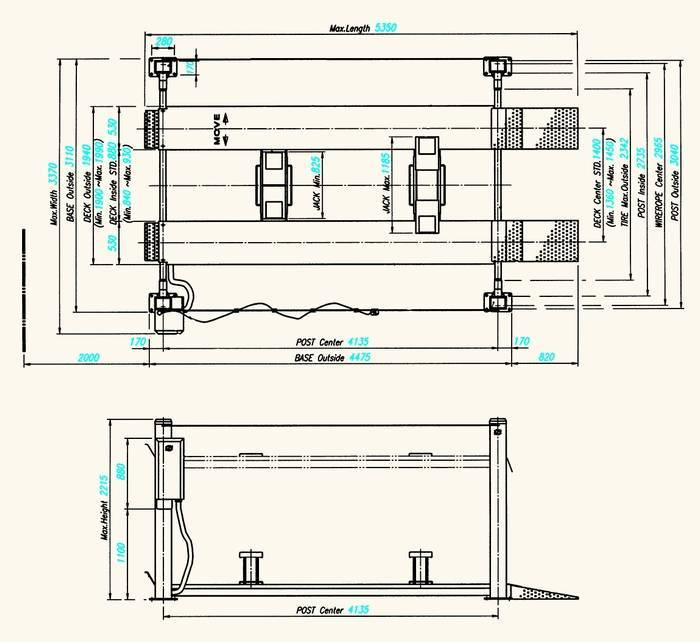 Car Lift : INGROUND SCISSORS LIFT (DL-3300)