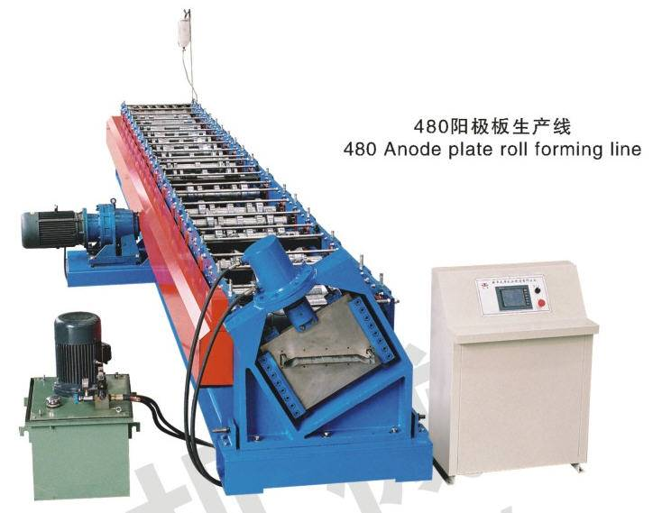 collecting electrodes roll forming machine