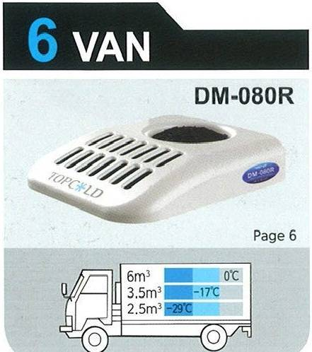TOPCOLD / DM-080R / Truck Refrigeration Unit / Reefer Van / Refrigerator Truck / Made in Korea
