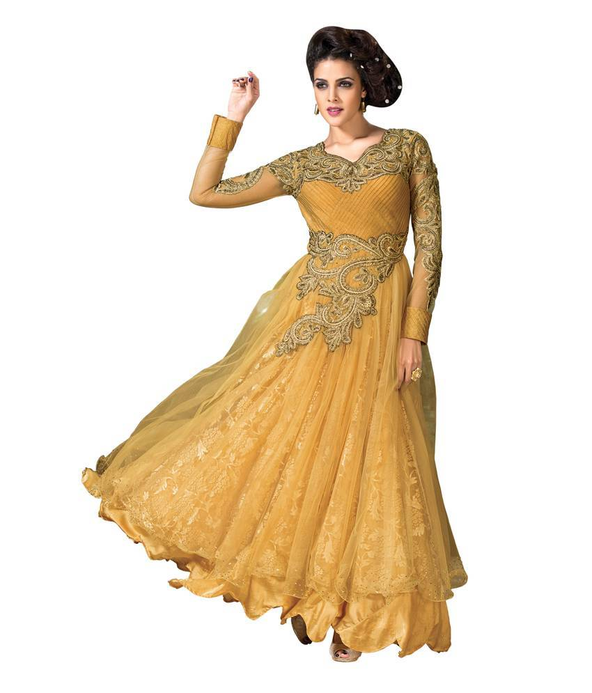 Soft Net+Rassal Net Dress material