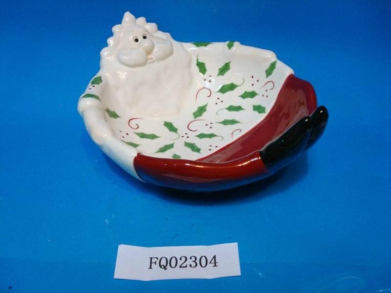 Ceramic christmas fruit holder