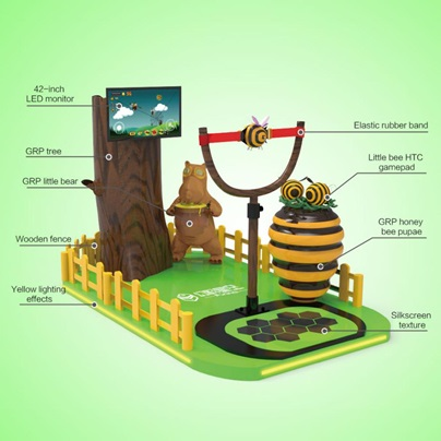 Selling family game machine VR Angry Bee with vr helmet