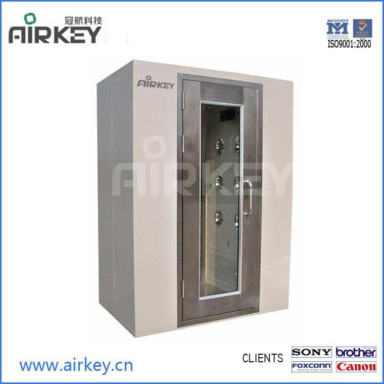 Cleanroom equipment stainless steel air shower ISO9001 with hepa filters and FFU