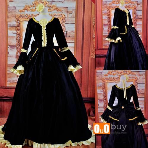 Anime Cosplay Costume Aku no Shirizu Black Cosplay Costume Dress