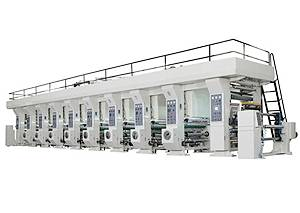 LYA-F SERIES IDEAL TYPE GRAVURE PRINTING MACHINE (UNWIDER&REWINDER OUTSIDE)