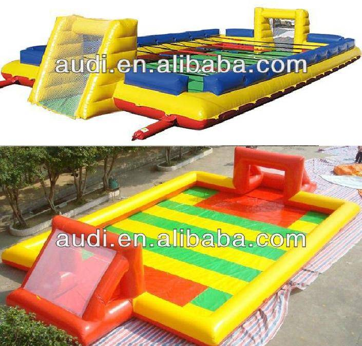 Inflatable Football Pitch/Water football field/football playground/human table football game