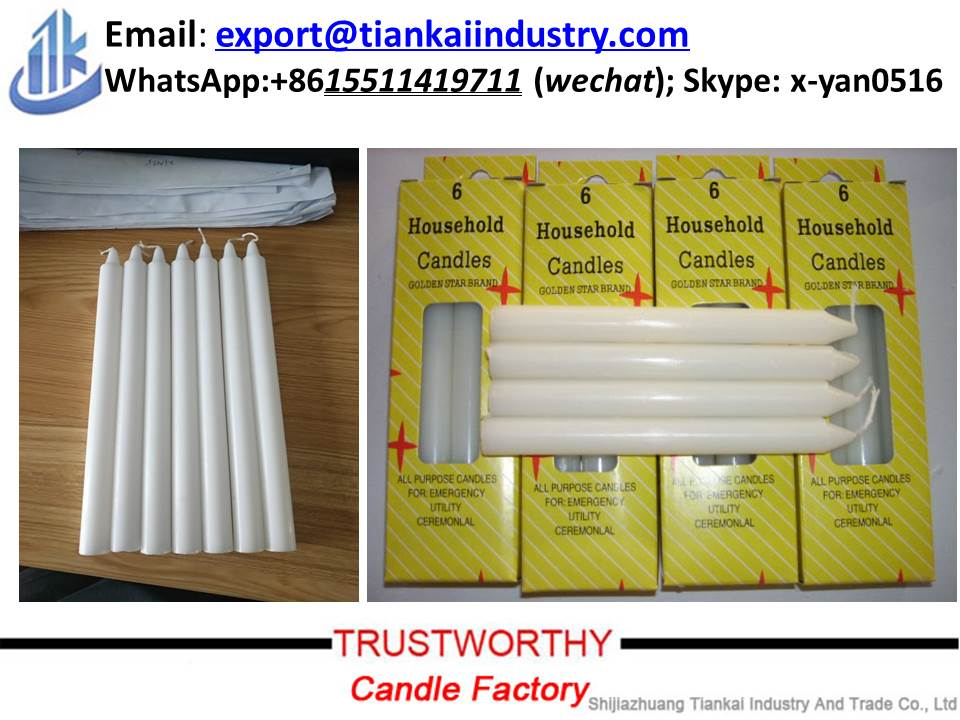 High Quality 100% Cotton Wick Paraffin Wax Candle White