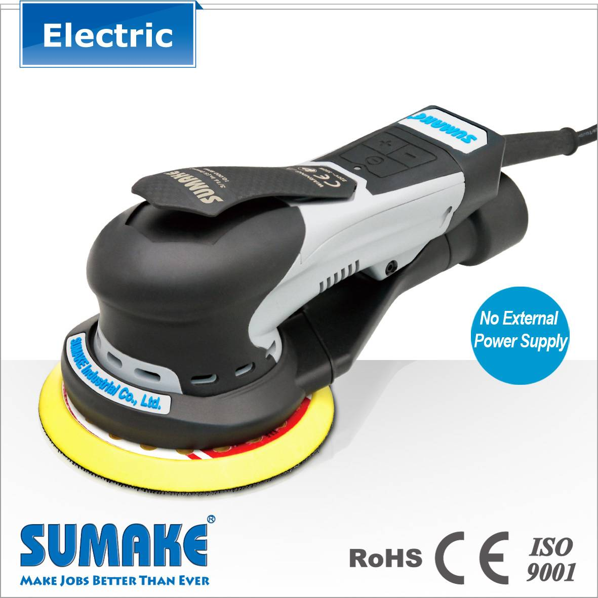 New arrival 2 in 1 Industrial Central vacuum compact electric sander polisher