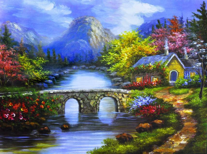 Free shipping oil painting on canvas 100%handmade