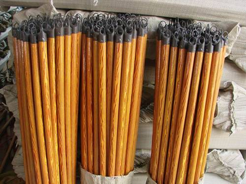 PVC covered wooden broom sticks