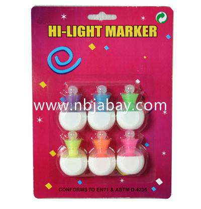 6pack mini cute highlighters