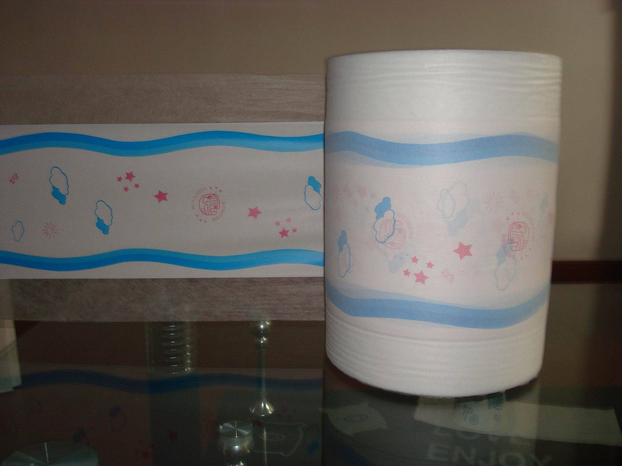 Lamination backsheet uns in the diaper and sanitary napkin