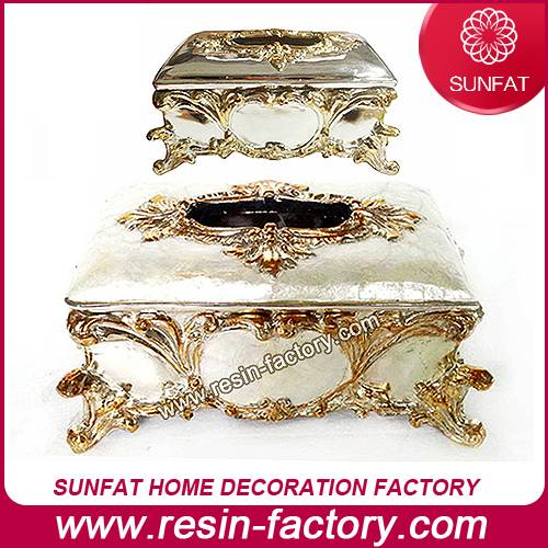 Handmade decorations resin tissue holder in home decorators