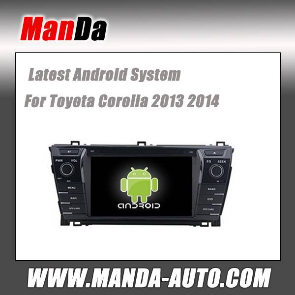 Android 4.4 car radio for Toyota Corolla 2013 2014 wifi 3g indash head unit car audio player gps nav