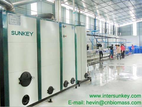 SUNKEY hot blast furnace provide heating for coating