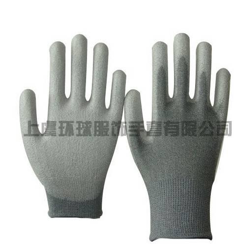 13G conductive PU palm coated glove