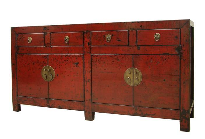 sell antiques red sideboard