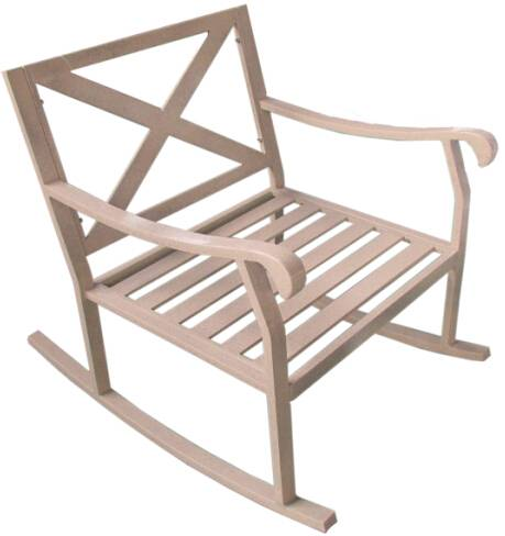 Aluminum outdoor swing chair