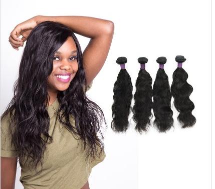 [9A]4 Bundles Brazilian Natural Wave Hair Weave