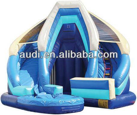 Blue Inflatable slide,Curvy Inflatable Water Slide For Slae
