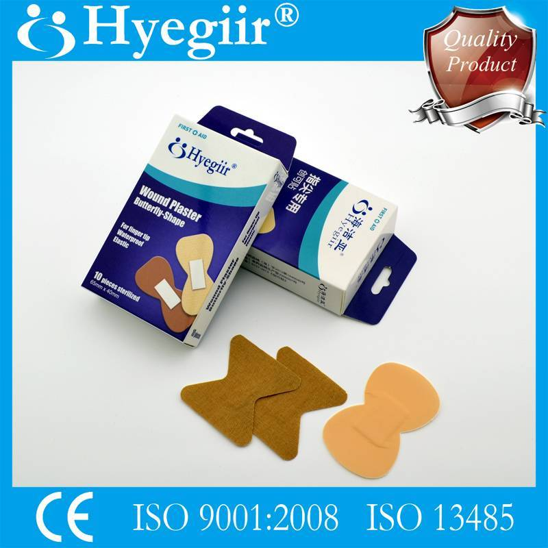 Boxed butterfly-shape wound plaster &adhesive bandage