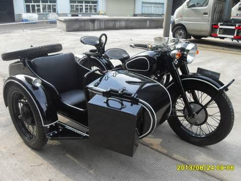 Black color motorcycle with big engine