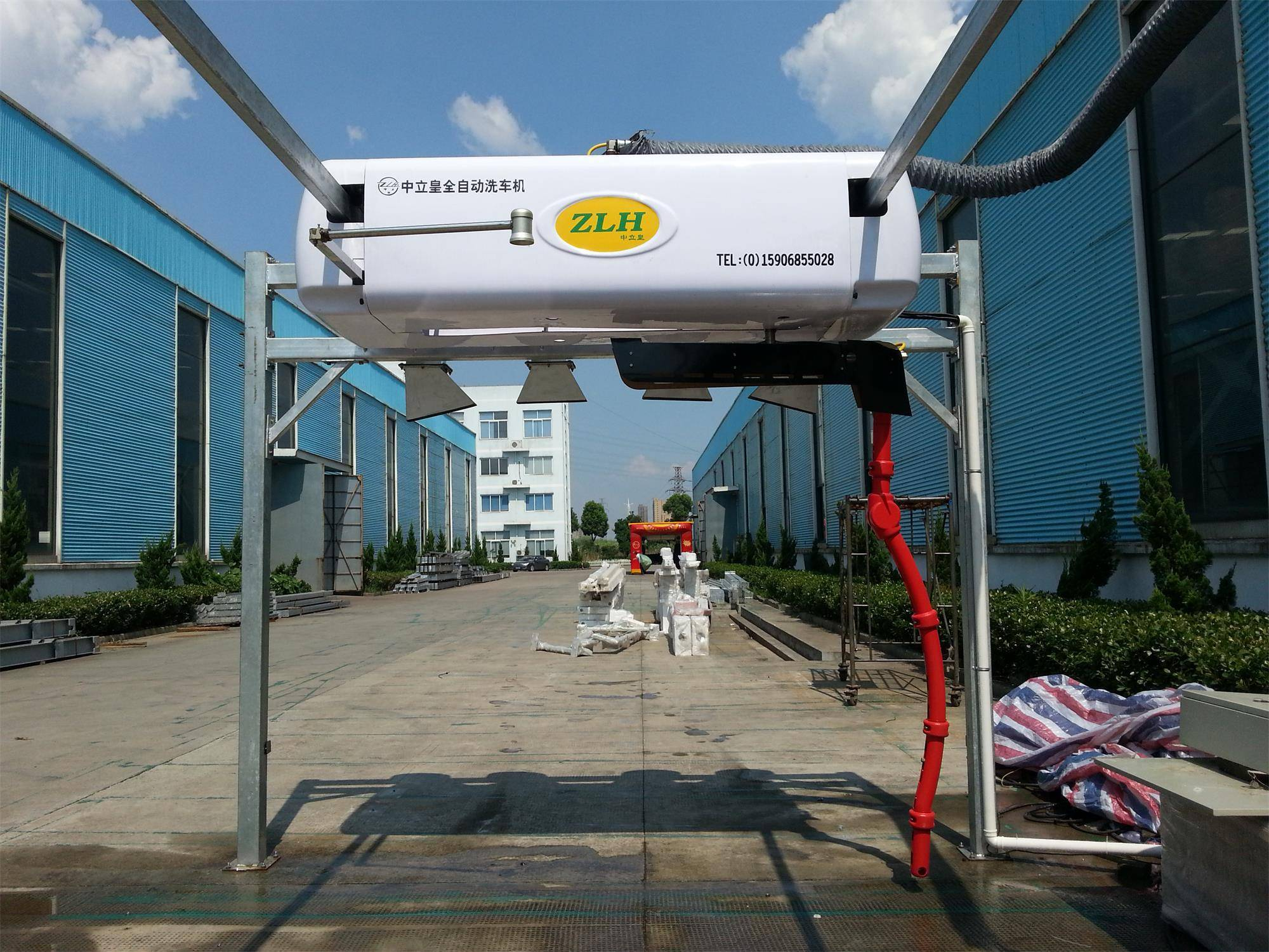 touchless car wash machine with single arm, brushless car wash equipment with CE