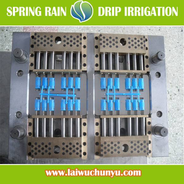 24 cavities inline round dripper mould