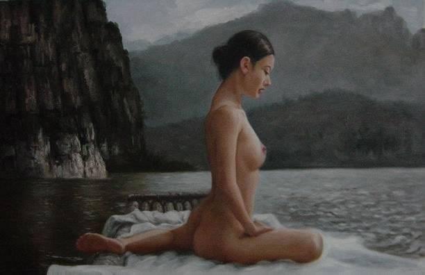 Handmade Nude Oil Paintings on Canvas