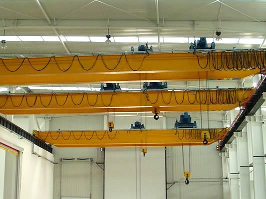 double girder 10ton electric hoist lifting bridge crane