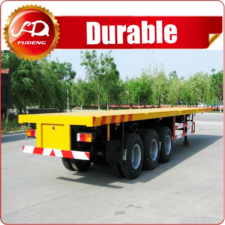 40 ton truck and trailer 3 axle 40ft flatbed container semi trailer for sale