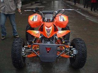 wolf style atv for 125cc with ballonet absorber and disc brakes