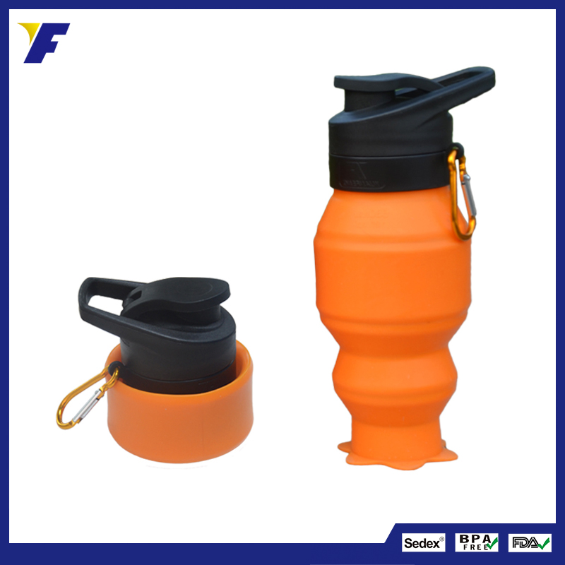 Outdoor Sport Non-toxic Flexible BPA Free Collapsible Foldable Water Bottle