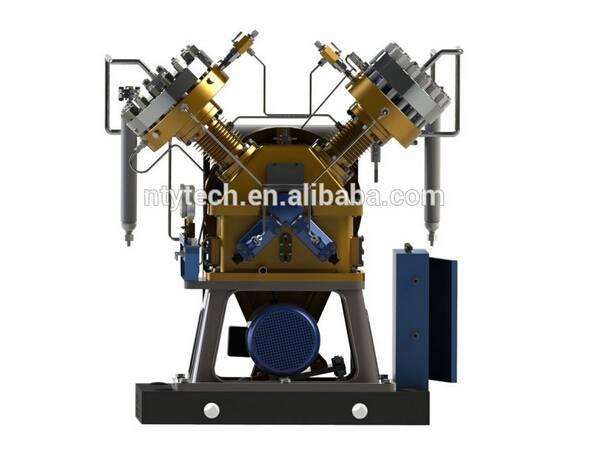 0.6Nm3/h Volume Flow Rate V-type 2 Heads Diaphragm Biogas Compressor