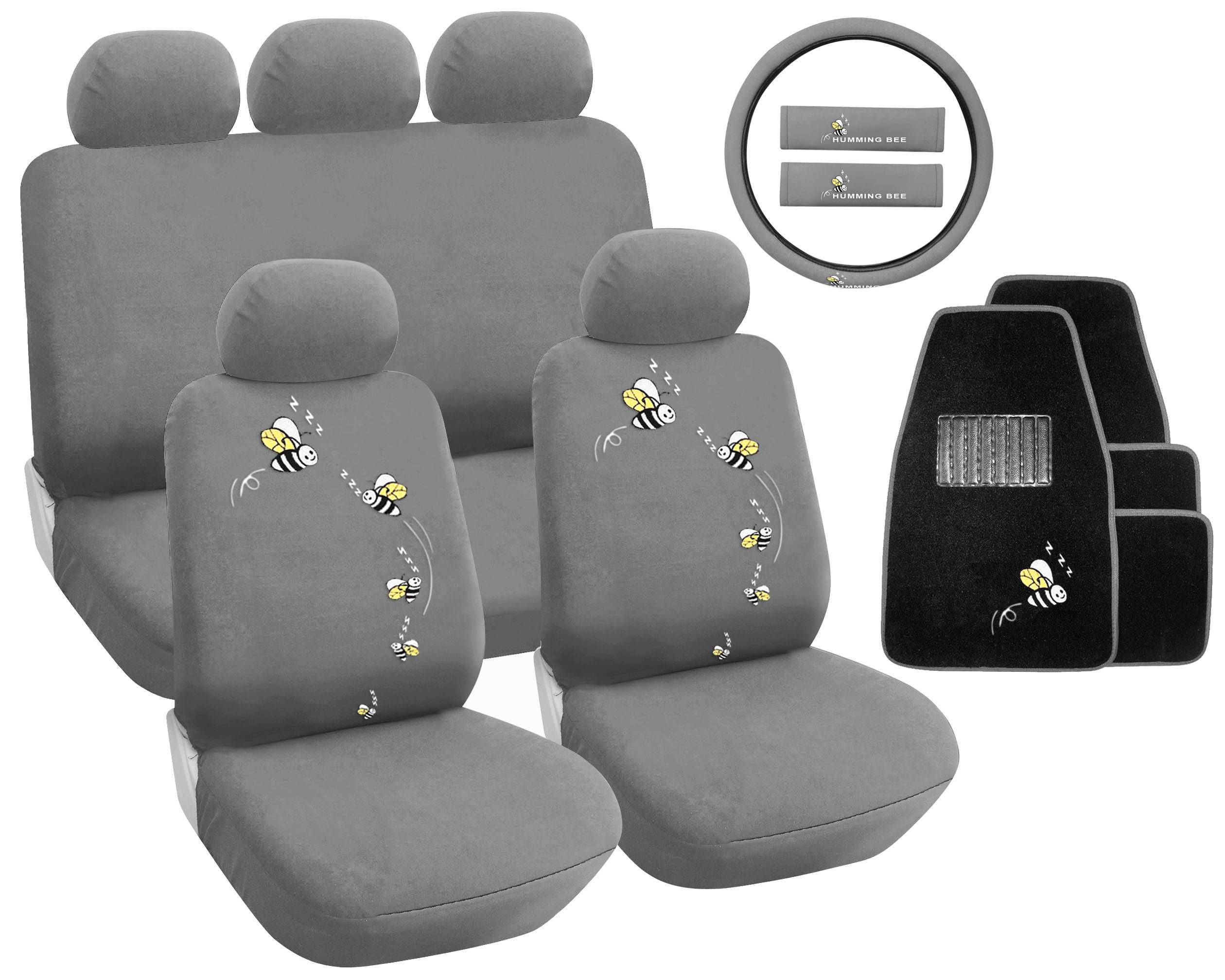 Car Seat Cover Bee Grey