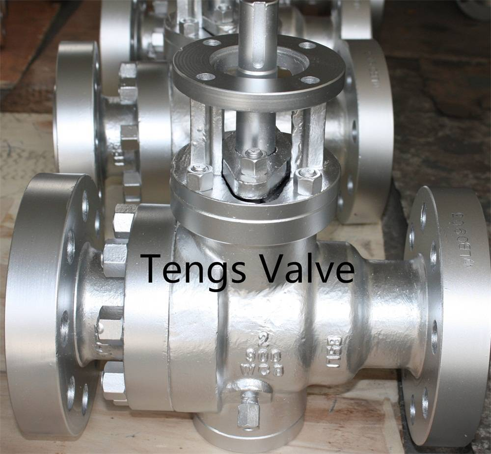 Carbon steel trunnion ball valve