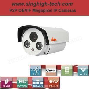 P2p Onvif 960p 1.3MP Waterproof IR IP Camera (NS5267)