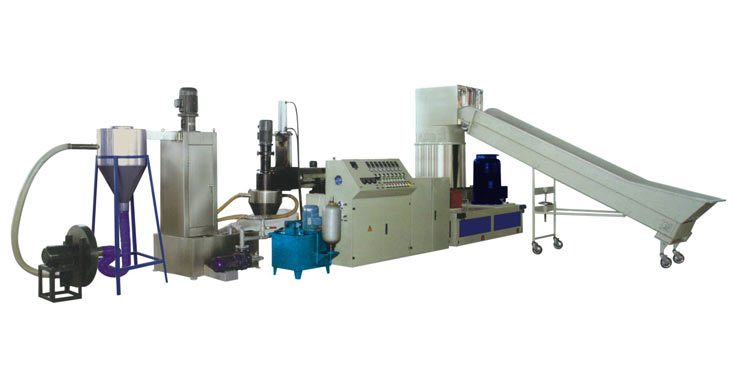 Water-Ring Cutter Type Single-Stage Waste PE/PP Plastic Film Recycling Machine
