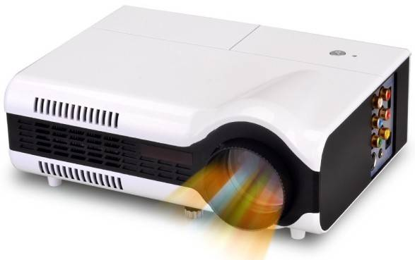 Hot Sale 1500 Lumens Mini LED Portable Projector 3D home theater