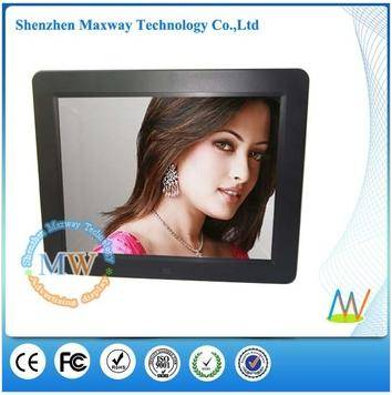 2014 new design slim type 12 inch wall mount digital frame