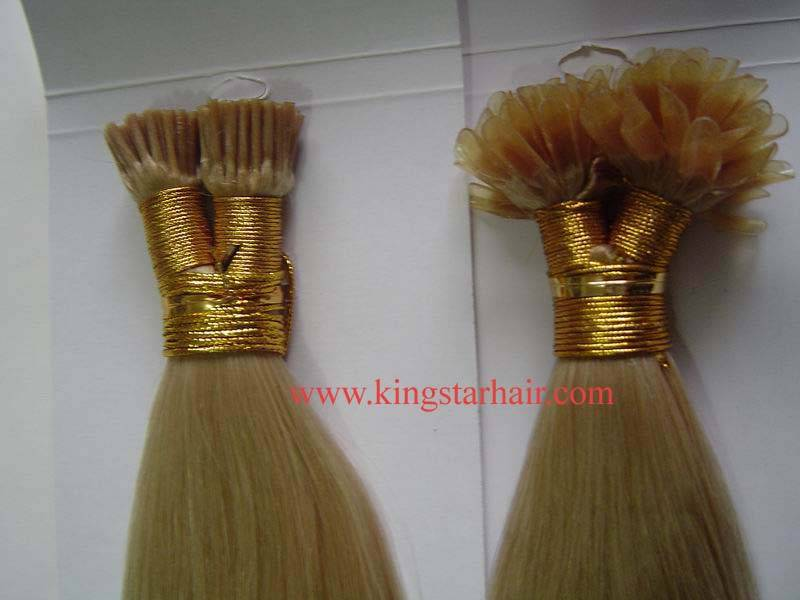 sell indian hair keratin hair extension