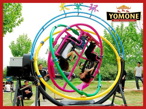 Professional china manufacturer amusement park rides human gyroscope outdoor equipment for sale