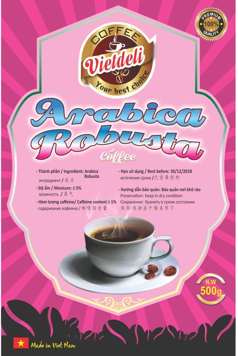 Sell ARABICA ROBUSTA ROASTED COFFEE BEANS - VIETDELI