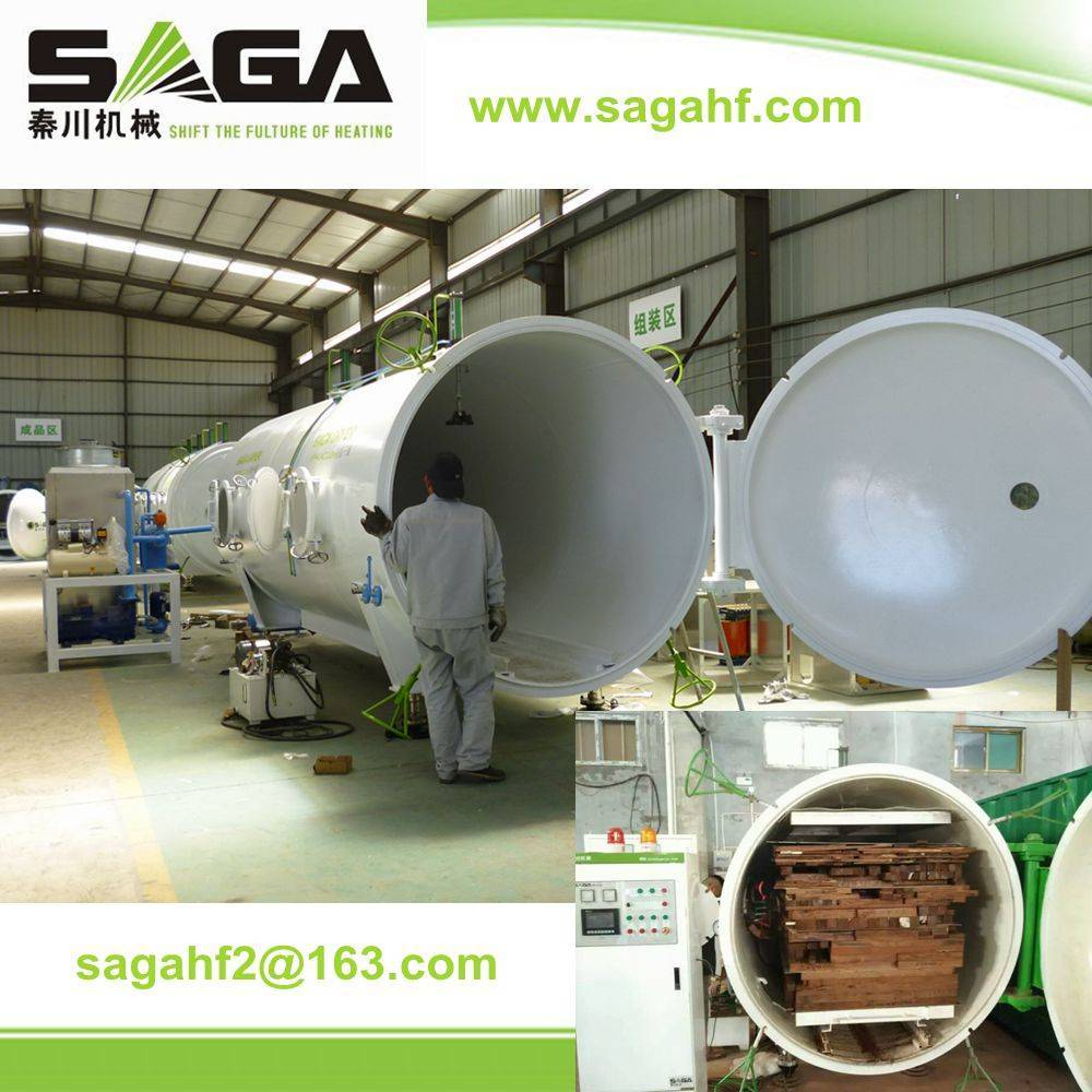 High frequency vacuum wood drying machine