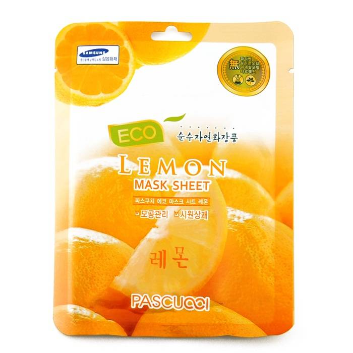 [KOREAN] Amicell Pascucci Skin Care Essence Skin Pore Caring Eco Mask Lemon