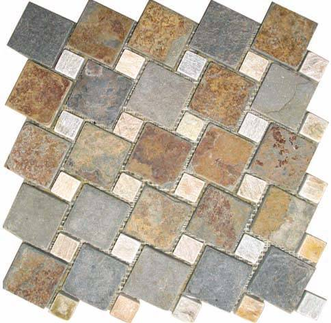 2015 hot selling high quality Quartz Stone Slate mosaic slate tiles