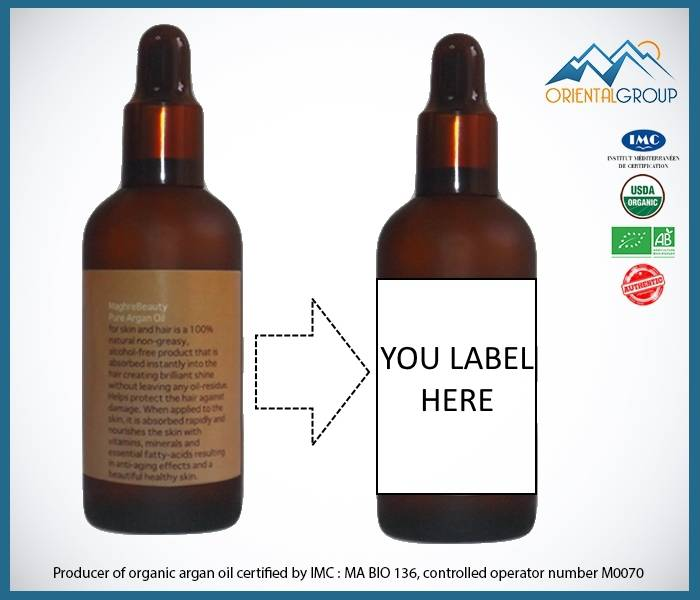 100% pure argan oil , Rich in Vitamin E cerified organic
