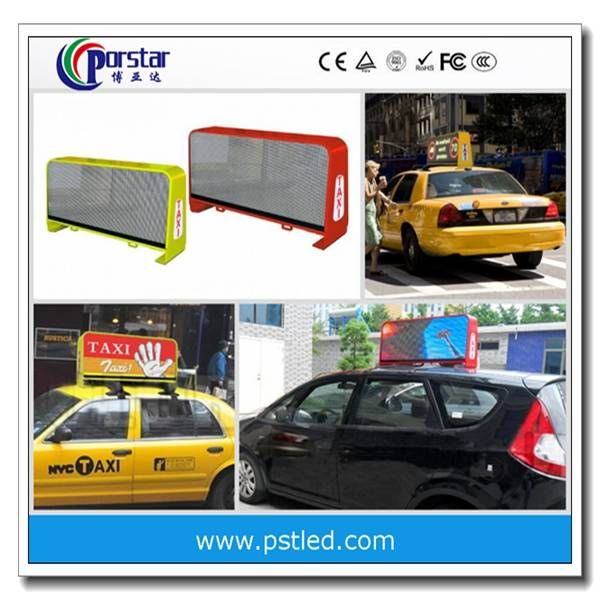 taxi top led display board/3Gwireless taxi advertising led display