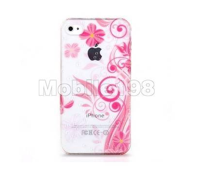 White Dots Design Hard Plastic Case for iPhone 4 4SPink